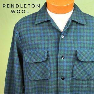 VINTAGE Pendleton 100% Virgin Wool Men's Shirt L